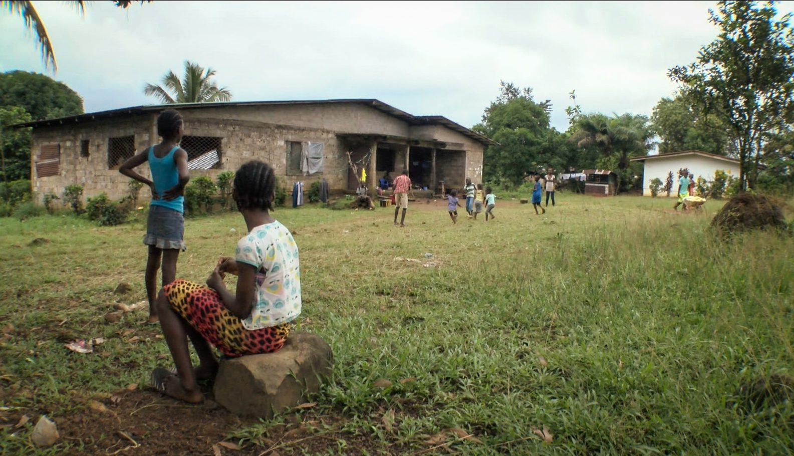 Ebola orphans cannot play with the kids of their community